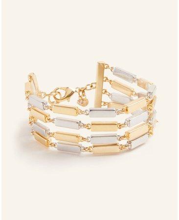 Metallic Bar Bracelet | Ann Taylor
