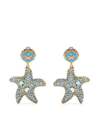 Versace crystal-embellished Starfish Earrings