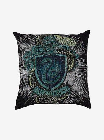Harry Potter Slytherin House Crest Tapestry Pillow