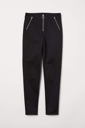 Slim-fit Pants - Black