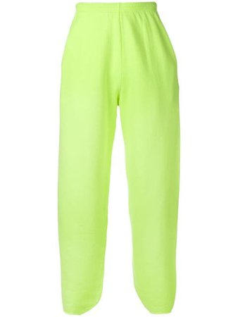 Shop yellow Balenciaga straight-leg track pants with Express Delivery - Farfetch