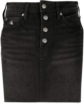 Mid-Rise Denim mini skirt
