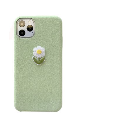 green flower phone case