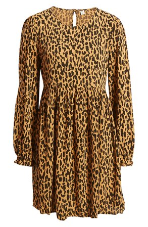 BP. Print Long Sleeve Dress   Nordstrom