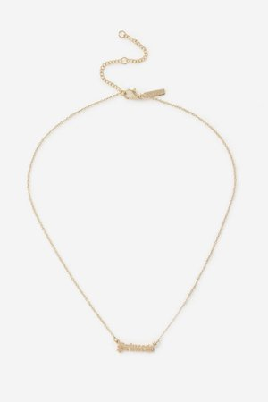 **Gold Princess Necklace   Topshop