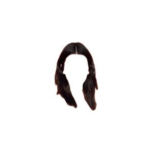 Black Dark Brown Short ish Hair