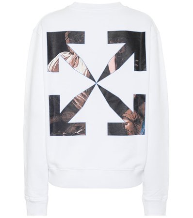 Logo Cotton Sweatshirt - Off-White | Mytheresa