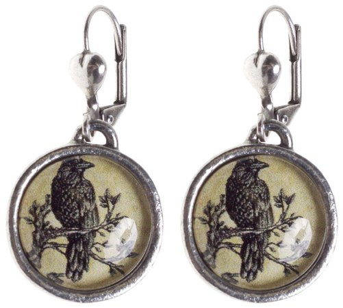 witch raven earrings - Google Search
