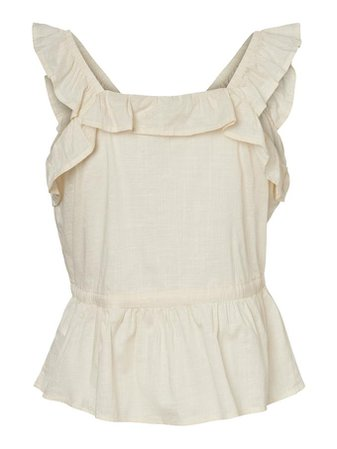 Pixi ruffle Tank top | GREY