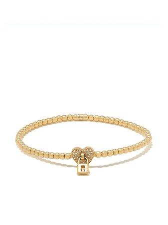 Monan 18kt Yellow Gold Diamond Heart Detail Bracelet - Farfetch