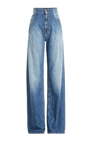 High-Waisted Wide Leg Jeans Gr. IT 42