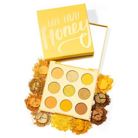 Uh-Huh Honey Golden Yellow Eyeshadow Palette   ColourPop
