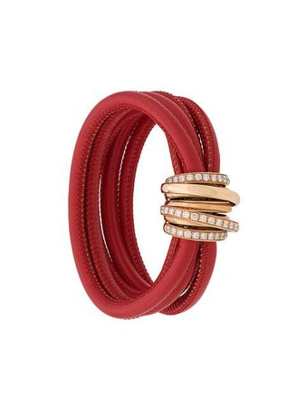 De Grisogono 18kt Rose Gold And Diamond Allegra Bracelet - Farfetch