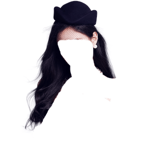 Black Hair PNG Beret/Hat [Jennie Kim Hair]