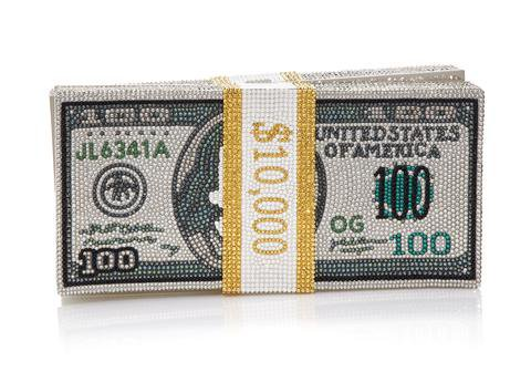 Stack of Cash Rich - Judith Leiber