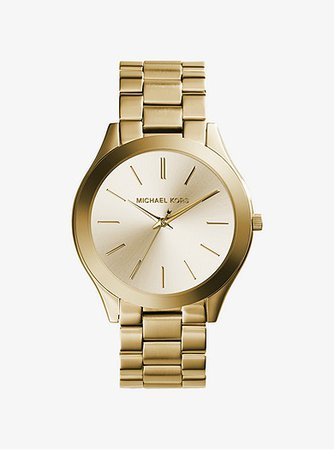 Slim Runway Gold-tone Stainless Steel Watch | Michael Kors