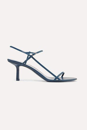 Bare Leather Sandals - Navy