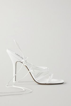 White Eve leather sandals | The Attico | NET-A-PORTER
