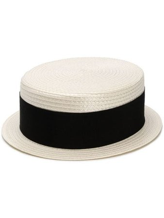Saint Laurent Small Boater Hat - Farfetch