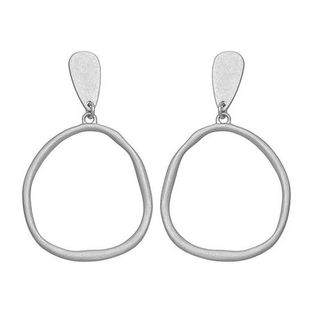 a.n.a Hoop Earrings, Color: Silver Tone - JCPenney