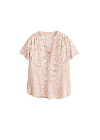 Violeta BY MANGO Pocket printed blouse