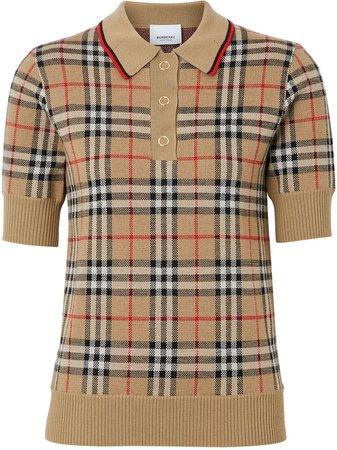 Burberry Vintage Check Merino Wool Polo Shirt | Farfetch.com