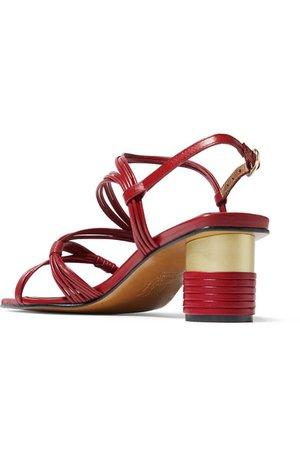 Souliers Martinez   Cartagena leather sandals   NET-A-PORTER.COM