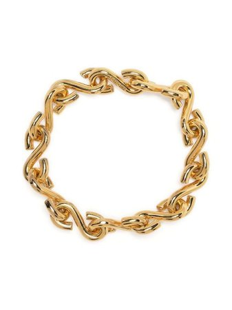 Shop gold All Blues hook chain bracelet with Express Delivery - Farfetch