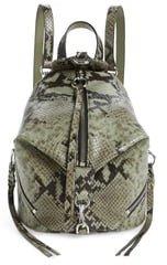 Mini Julian Convertible Leather Backpack
