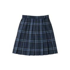 School Uniform Plaid Box Pleat Skirt Top of the Knee from Lands' End ❤ liked on Polyvore featuring skirts, bottom… | Blue plaid skirt, Box pleat skirt, Plaid skirts