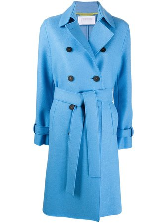 Harris Wharf London Double Breasted tie-waist Coat - Farfetch
