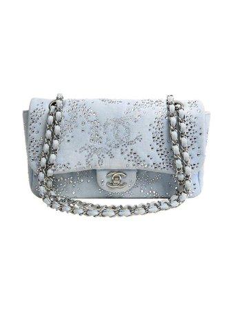 chanel embellished denim- chain bag