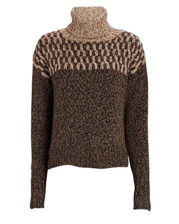 Veronica Beard Bia Turtleneck Sweater | INTERMIX®