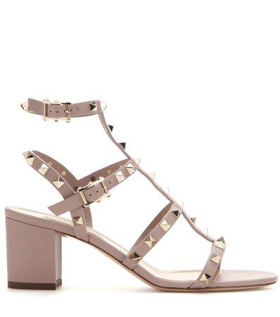Valentino Garavani Rockstud Leather Sandals   Valentino