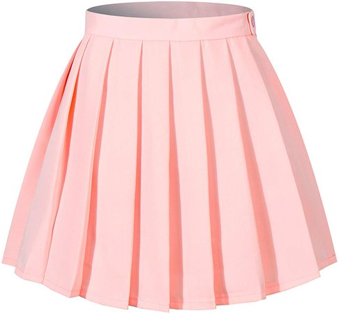 Amazon.com: Women`s Plus size Solid cute short mini versatile Pleated Skirts(4XL,Pink): Clothing