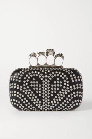 Black Box studded leather clutch | Alexander McQueen | NET-A-PORTER