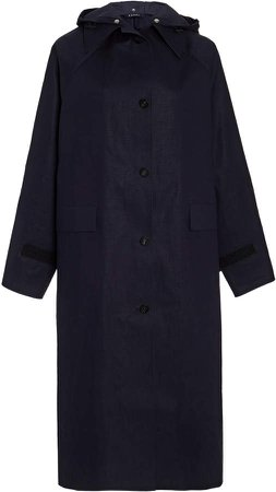 Kassl Hooded Cotton Trench Coat