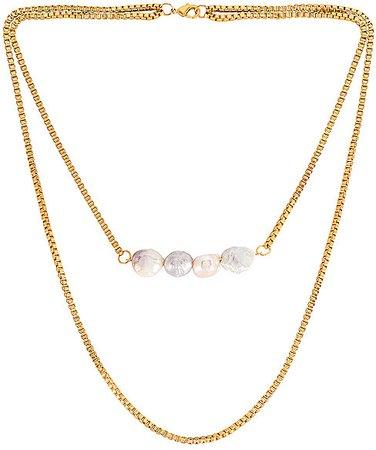 GOLDMINE Baroque Pearl Choker
