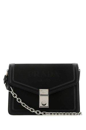 Prada Embossed Logo Chain Shoulder Bag – Cettire