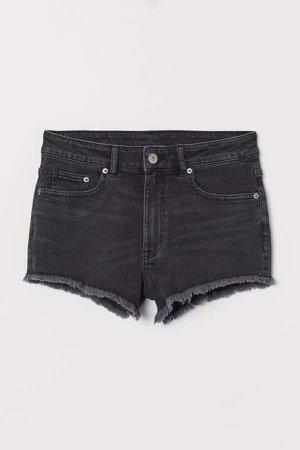 Denim Shorts High Waist - Black