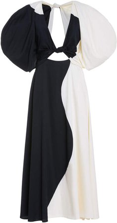 Mara Hoffman Lelia Two-Tone Cotton Dress