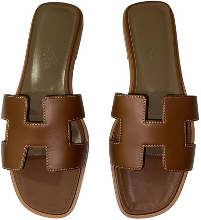 Oran Brown Leather Sandals