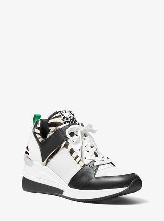 Georgie Leather and Calf Hair Trainer