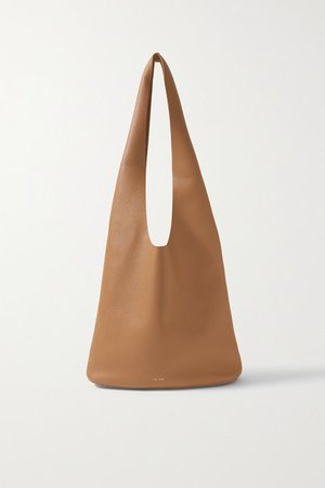Bindle Three Textured-leather Shoulder Bag - Sand