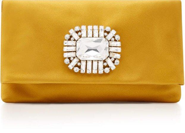 Titania Embellished Satin Clutch