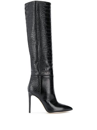Paris Texas Crocodile Embossed Boots - Farfetch
