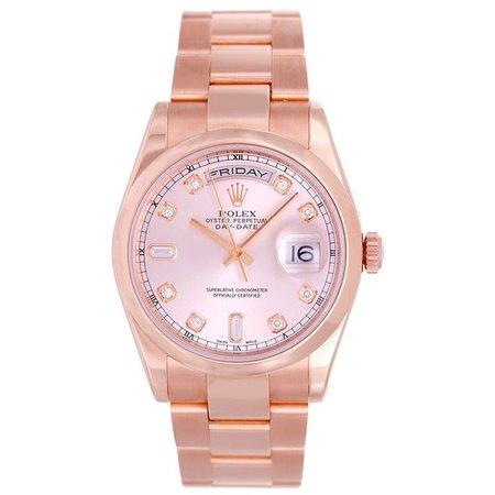 pink rolex watch