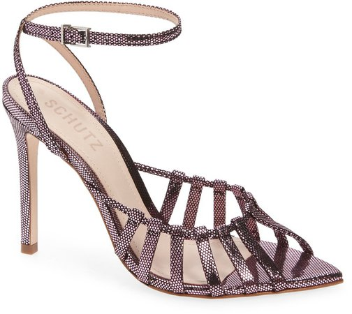 Kellie Leather Ankle Strap Sandal