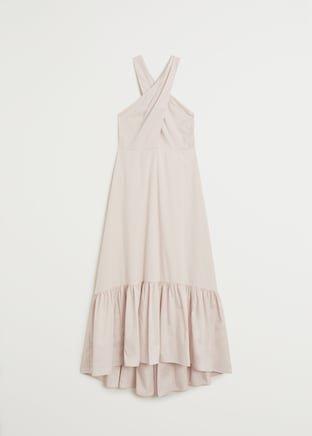 Wraped neck dress - Women | Mango USA ivory