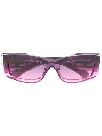 Balenciaga Eyewear Square Frame Ombré Sunglasses